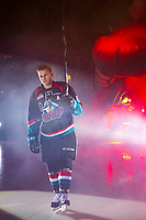 KELOWNA, CANADA - SEPTEMBER 22:  Kaedan Korczak #6 of the Kelowna Rockets enters the ice against the Kamloops Blazers on September 22, 2018 at Prospera Place in Kelowna, British Columbia, Canada.  (Photo by Marissa Baecker/Shoot the Breeze)  *** Local Caption ***