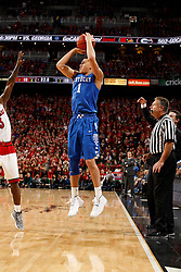 Kentucky guard Devin Booker hits a three point basket in the first half. <br /> <br /> The University of Louisville hosted the University of Kentucky, Saturday, Dec. 27, 2014 at Yum Center in Louisville. <br /> <br /> Photo by Jonathan Palmer