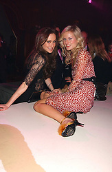 Left to right, CAMILLA AL FAYED and FIONA SCARRY at the Myla Debutantes Coming-Out show held at The Porchester Hall, Porchester Road, London on 31st January 2006.<br />