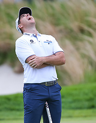 May 19, 2019 - Farmingdale, NY, U.S. - FARMINGDALE, NY - MAY 19: Luke List of the United States reacts following a missed putt on 16 during the Final Round of the 2019 PGA Championship, on the Black Course, Bethpage State Park, in Farmingdale, NY. (Photo by Joshua Sarner/Icon Sportswire) (Credit Image: © Joshua Sarner/Icon SMI via ZUMA Press)