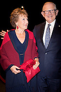 Princess Margriet and Pieter van Vollenhoven of The Netherlands attend the jubilee perfomance TUTTI of ballet group Introdans at the stadstheater in Arnhem, The Netherlands, 30 September 2016. Princess Margriet is patroness of Introdans.  Prinses Margriet en Pieter van Vollenhoven bij de premiere van de nieuwe introdans show TUTTI COPYRIGHT ROBIN UTRECHT