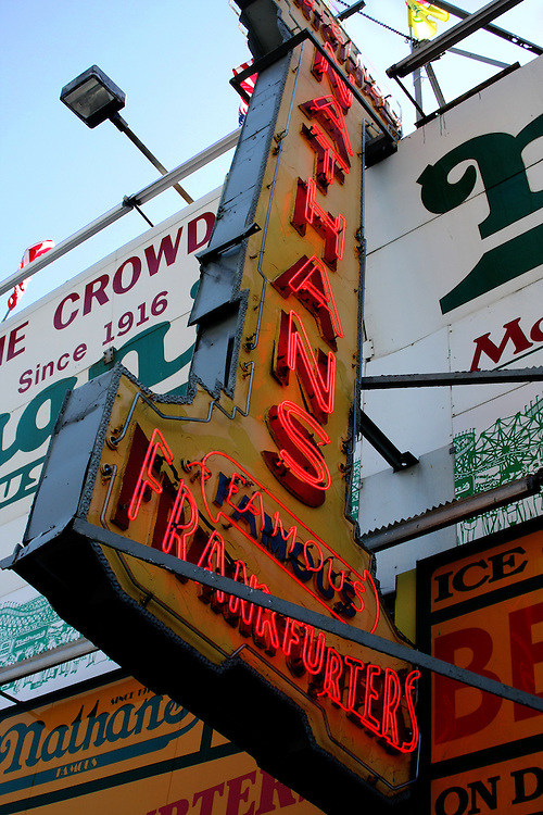 """The old """"Nathan's sign. Before Sandy."""