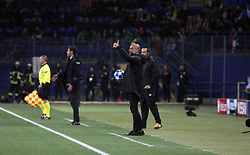 October 23, 2018 - Kharkiv, Ukraine - Head coach of Manchester City FC Josep Guardiola (C) is pictured on the sideline during the UEFA Champions League Group F Matchday 3 game against FC Shakhtar Donetsk at the Metalist Stadium Regional Sports Complex, Kharkiv, northeastern Ukraine, October 23, 2018. Ukrinform. (Credit Image: © Vyacheslav Madiyevskyy/Ukrinform via ZUMA Wire)