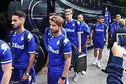 Leeds United players arrive during the Pre-Season Friendly match between Forest Green Rovers and Leeds United at the New Lawn, Forest Green, United Kingdom on 17 July 2018. Picture by Alan Franklin.