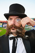 Contestant in the National Beard and Moustache Championships, in Lancaster, PA..October 8, 2011.