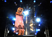 UNITED KINGDOM-LONDON. Stacey Solomon plays at Skyfest 2010. 17/07/2010. STEPHEN SIMPSON...