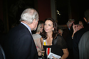 CLAUS VON BULOW AND NANCY SLADEK, The Literary Review Bad sex in Fiction Award 2007. The In and Out Naval and Military Club. St. James's Sq. London. 27 November 2007. -DO NOT ARCHIVE-© Copyright Photograph by Dafydd Jones. 248 Clapham Rd. London SW9 0PZ. Tel 0207 820 0771. www.dafjones.com.