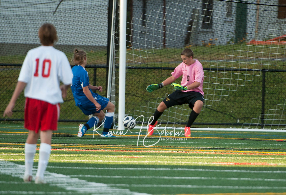 Varsity Soccer Laconia versus Interlakes.  Karen Bobotas/ for the Laconia Daily Sun