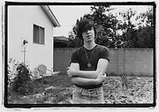 Frank Agnew of the Adolescents, in his backyard 5/19/81,