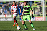 Forest Green Rovers Matthew Worthington(21) on the ball during the EFL Sky Bet League 2 match between Forest Green Rovers and Cheltenham Town at the New Lawn, Forest Green, United Kingdom on 20 October 2018.