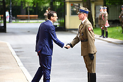 April 25, 2018 - Warsaw, Poland - Slovak Prime Minister Peter Pellegrini arrived for official visit to Polish Prime Minister Mateusz Morawiecki in Warsaw. (Credit Image: © Jakob Ratz/Pacific Press via ZUMA Wire)