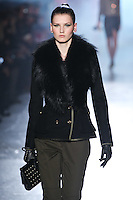 Katlin Aas walks down runway for F2012 Jason Wu's collection in Mercedes Benz fashion week in New York on Feb 10, 2012 NYC