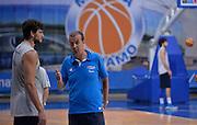DESCRIZIONE : Qualificazioni EuroBasket 2015 - Allenamento <br /> GIOCATORE : Alessandro Gentile Simone Pianigiani<br /> CATEGORIA : nazionale maschile senior A <br /> GARA : Qualificazioni EuroBasket 2015 - Allenamento<br /> DATA : 12/08/2014 <br /> AUTORE : Agenzia Ciamillo-Castoria