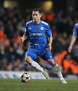 Frank Lampard of Chelsea in action during the second leg of the round of 16 UEFA Champions League match at home to Chelsea at Stamford Bridge football stadium, London on March 16, 2010.