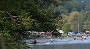 Lucerne, SWITZERLAND<br /> <br /> Competitors, waiting to be called for their heat, 2016 European Olympic Qualifying Regatta, Lake Rotsee.<br /> <br /> Sunday  22/05/2016<br /> <br /> [Mandatory Credit; Peter SPURRIER/Intersport-images]
