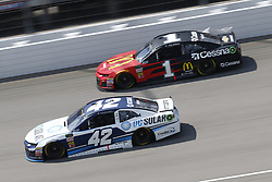 August 12, 2018 - Brooklyn, Michigan, United States of America - Kyle Larson (42) and Jamie McMurray (1) battle for position during the Consumers Energy 400 at Michigan International Speedway in Brooklyn, Michigan. (Credit Image: © Chris Owens Asp Inc/ASP via ZUMA Wire)