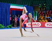 Virginia Virgili  atleta della società Etruria di Prato durante la seconda prova del Campionato Italiano di Ginnastica Ritmica.<br /> La gara si è svolta a Desio il 31 ottobre 2015.