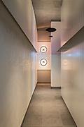 hallway to virgin active bathrooms