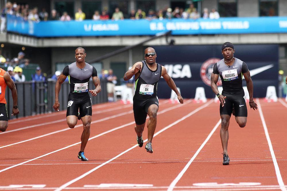 men's 100 meters, Walter Dix injured