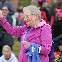 Norma Tollison of Sherman, was one of the survivors who won a door prize Saturday at the Hope Continues 5K