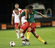 SZCZECIN 11/08/2010.FOOTBALL INTERNATIONAL FRIENDLY.POLAND v CAMEROON.ADRIAN MIERZEJEWSKI /POL/ I BENOIT ASOU-EKOTTO /CAM/.Fot: Piotr Hawalej / WROFOTO