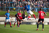 Dundee&rsquo;s Sofien Moussa scores his second with and overhead kick- Cowdenbeath v Dundee in the Betfred Cup at Central Park, Cowdenbeath - Picture by David Young<br /> <br />  - &copy; David Young - www.davidyoungphoto.co.uk - email: davidyoungphoto@gmail.com