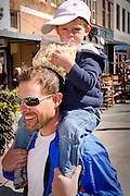 Father and son at local art festival.