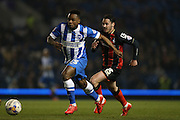 Kazenga LuaLua, Brighton midfielder during the Sky Bet Championship match between Brighton and Hove Albion and Bournemouth at the American Express Community Stadium, Brighton and Hove, England on 10 April 2015.