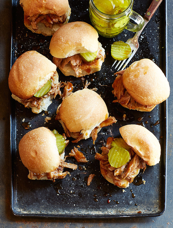 Crockpot Pork Barbecue Sliders