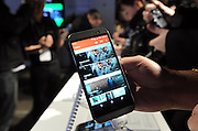 HTC unveils its newest flagship smartphone, the HTC One (M8), to hundreds of media at an event in New York, Tuesday, March 25, 2014. (Photo by Diane Bondareff/Invision for HTC/AP Images)
