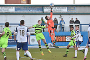Barrow's goalkeeper Tim Erlandson (40)  during the Vanarama National League match between Barrow and Forest Green Rovers at Holker Street, Barrow, United Kingdom on 28 January 2017. Photo by Mark Pollitt.