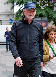 © Licensed to London News Pictures. 20/07/2017. London, UK. BBC Radio presenter CHRIS EVANS seen leaving BBC Broadcasting House in London following a BBC annual report which was published yesterday. The report revealed the salaries of stars earning more than £150,000. Photo credit: Ben Cawthra/LNP