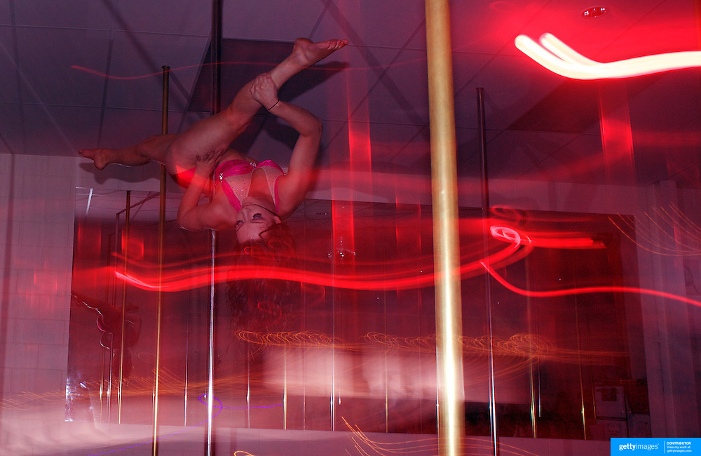 Harriet Kelsall pole dancing during the Queenstown Pole Studios end of year show at the Queenstown Pole Studio, Gorge Road,  Queenstown. South Island, New Zealand. 10th November, 2011
