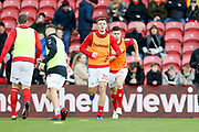 Middlesbrough defender Dael Fry (20) warming up during the EFL Sky Bet Championship match between Middlesbrough and Ipswich Town at the Riverside Stadium, Middlesbrough, England on 29 December 2018.
