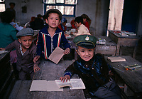 Chine, Province du Sinkiang (Xinjiang), Kashgar (Kashi), école dans la vieille ville, Population Ouigour // China, Sinkiang Province (Xinjiang), Kashgar (Kashi), scholl in the Old city, Ouigour population