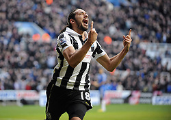 JONAS GUTIERREZ CELEBRATES GOAL.NEWCASTLE V CHELSEA FC.NEWCASTLE V CHELSEA.ST JAMES PARK, NEWCASTLE, ENGLAND.02 February 2013.GAQ65176...BARCLAYS PREMIER LEAGUE 02/02/2013..  .WARNING! This Photograph May Only Be Used For Newspaper And/Or Magazine Editorial Purposes..May Not Be Used For Publications Involving 1 player, 1 Club Or 1 Competition .Without Written Authorisation From Football DataCo Ltd..For Any Queries, Please Contact Football DataCo Ltd on +44 (0) 207 864 9121