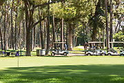 Golfers at Azusa Greens Country Club
