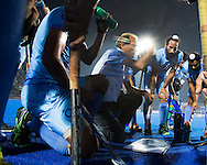 BHUBANESWAR (India) -  Hero Champions Trophy hockey men. Semifinal India vs Pakistan. coach Roelant Oltmans of India with his players .  Photo Koen Suyk