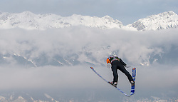 03.01.2015, Bergisel Schanze, Innsbruck, AUT, FIS Ski Sprung Weltcup, 63. Vierschanzentournee, Innsbruck, Training, im Bild Daniel Huber (AUT) // Daniel Huber of Austria soars through the air during a trainings jump for the 63rd Four Hills Tournament of FIS Ski Jumping World Cup at the Bergisel Schanze in Innsbruck, Austria on 2015/01/03. EXPA Pictures © 2015, PhotoCredit: EXPA/ JFK