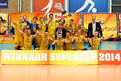 20140928 NED: Supercup, Landstede Volleybal - Kootfin Taurus: Sneek<br /> Landstede Volleybal wint de Supercup 2014<br /> ©2014-FotoHoogendoorn.nl / Pim Waslander