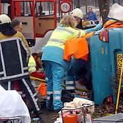 Ongeval met beknelling Huizermaatweg Huizen