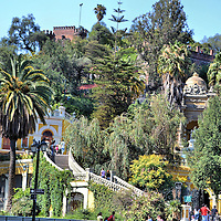 History of Cerro Santa Lucia in Santiago, Chile<br />