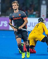 BHUBANESWAR, INDIA - Jeroen Hertzberger (Ned) heeft gescoord bij het nemen van de shoot-outs, tijdens de  finale tussen België en Nederland (0-0) bij het WK Hockey heren in het Kalinga Stadion. Belgie wint de shoot-outs en Wereldtitel. COPYRIGHT KOEN SUYK