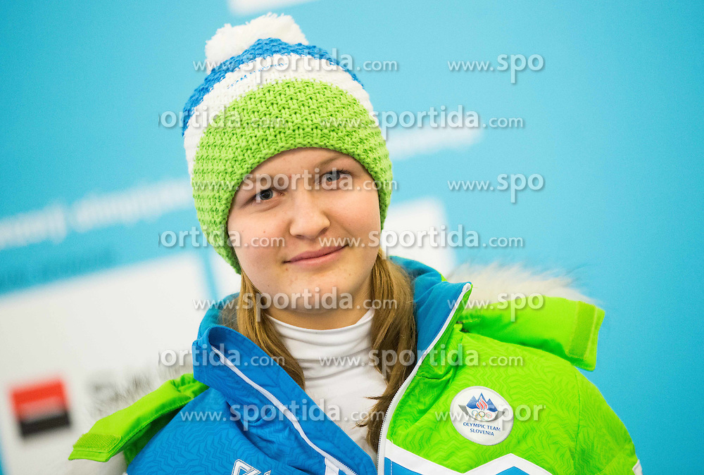 Maja Gradisar during presentation of Slovenian Young Athletes before departure to EYOF (European Youth Olympic Festival) in Vorarlberg and Liechtenstein, on January 21, 2015 in Bled, Slovenia. Photo by Vid Ponikvar / Sportida