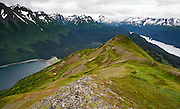 The view from Grace Ridge in Kachemak Bay State Park.  The trail to get to the top is steep and unmarked.  The views are well worth it!
