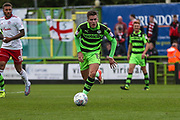Forest Green Rovers Charlie Cooper(15) runs forward during the EFL Sky Bet League 2 match between Forest Green Rovers and Accrington Stanley at the New Lawn, Forest Green, United Kingdom on 30 September 2017. Photo by Shane Healey.
