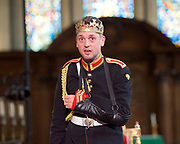 Antic Disposition present<br /> Richard III<br /> by William Shakespeare<br /> at the Temple Church, London, Great Britain <br /> Press photography <br /> 23rd August 2017 <br /> <br /> Toby Manley as Richard III<br />  <br /> <br /> <br /> <br /> <br /> &nbsp;<br /> Directors<br /> Ben Horslen<br /> John Risebero<br /> Designer<br /> John Risebero<br /> Lighting Designer<br /> Tom Boucher<br /> &nbsp;<br /> Composer<br /> James Burrows<br /> &nbsp;<br /> Fight Director<br /> Bethan Clark&nbsp;of Rc-Annie Ltd.<br /> &nbsp;<br /> Stage Manager<br /> Damien Stanton<br /> &nbsp;<br /> Technical Stage Manager<br /> Angus Chisholm<br /> <br /> Photograph by Elliott Franks <br /> Image licensed to Elliott Franks Photography Services