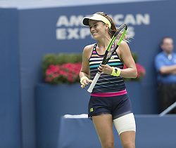 August 31, 2017 - New York, New York, United States - Nicole Gibbs of USA reacts during match against Karolina Pliskova of Czech Republic at US Open Championships at Billie Jean King National Tennis Center  (Credit Image: © Lev Radin/Pacific Press via ZUMA Wire)
