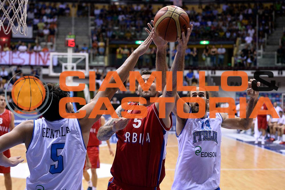 DESCRIZIONE : Trieste Nazionale Italia Uomini Torneo internazionale Italia Serbia Italy Serbia<br /> GIOCATORE : Vladimir Micov <br /> CATEGORIA : Tiro Sottomano<br /> SQUADRA : Serbia Serbia<br /> EVENTO : Torneo Internazionale Trieste<br /> GARA : Italia Serbia Italy Serbia<br /> DATA : 05/08/2014<br /> SPORT : Pallacanestro<br /> AUTORE : Agenzia Ciamillo-Castoria/GiulioCiamillo<br /> Galleria : FIP Nazionali 2014<br /> Fotonotizia : Trieste Nazionale Italia Uomini Torneo internazionale Italia Serbia Italy Serbia