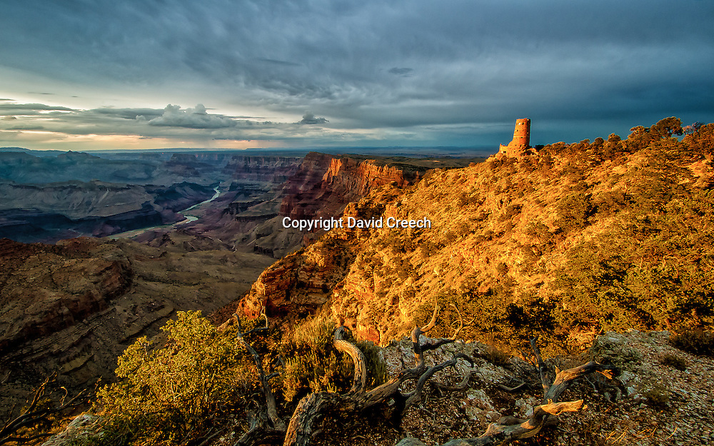 Views from the area around the iconic Watch Tower building in Grand Canyon National Park.